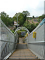 TQ5188 : Steps down from footbridge over railway by Robin Webster