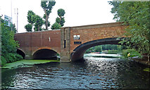 SK5907 : Loughborough Road Bridge in Leicester by Roger  Kidd