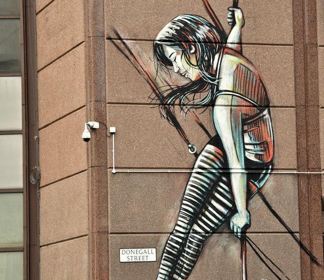Street art, Donegall Street, Belfast (November 2018)