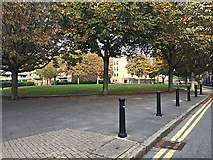 TQ3480 : The view of Wapping Green from Watts Street, Wapping by Robin Stott