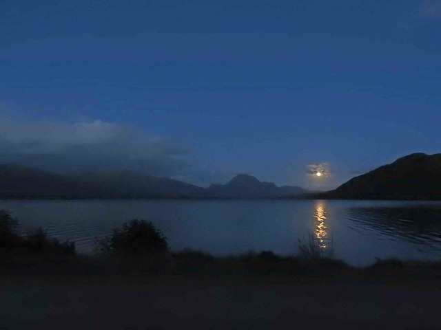 Moonrise over Loch Maree