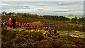 NZ5810 : Remembrance Service, Easby Moor by Mick Garratt