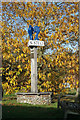 TG1836 : Sustead village sign by Ian S