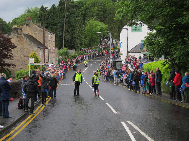 Olympic torch relay through Riding Mill