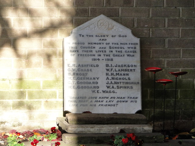 WW1 Memorial in the grounds of Thetford Methodist church