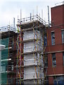 SO8754 : Worcestershire Royal Hospital - scaffolding by Chris Allen