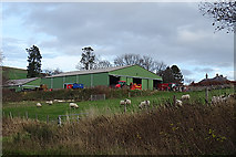 NJ2029 : Tombreckachie Farm by Anne Burgess