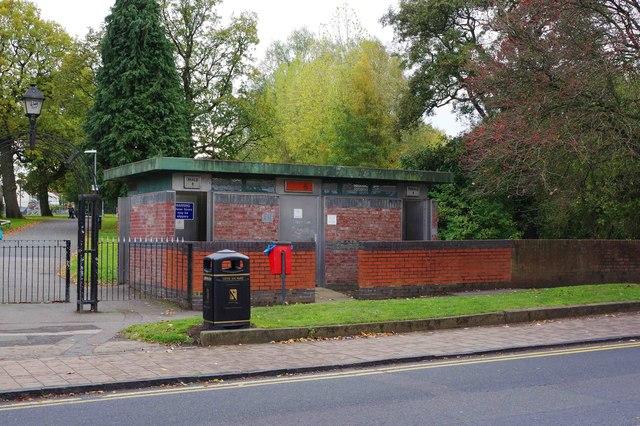 Public toilets, Rubery Park, New Road, Rubery, near Birmingham