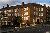 TQ2585 : Library and flats, West End Lane, West Hampstead by Christopher Hilton