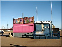 TG5307 : Police Post beside the T-Shirt Shack by Evelyn Simak