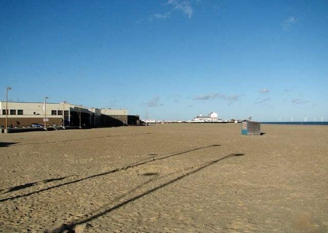 The beach at Great Yarmouth