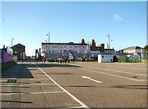 TG5307 : View across car park towards The Flamingo by Evelyn Simak