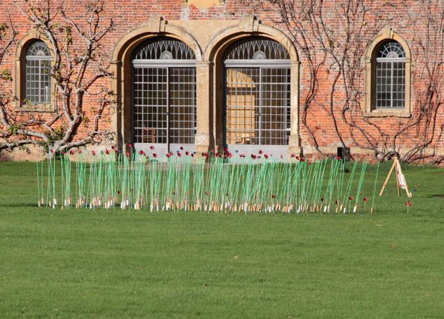 Armistice Day memorial at Barrington Court (close-up)