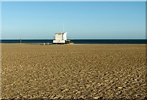 TG5307 : Lifeguards' hut on Great Yarmouth's beach by Evelyn Simak