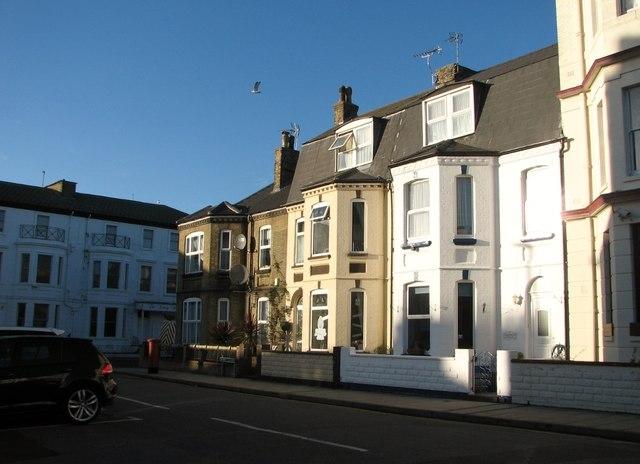 Terraced houses on Albert Square