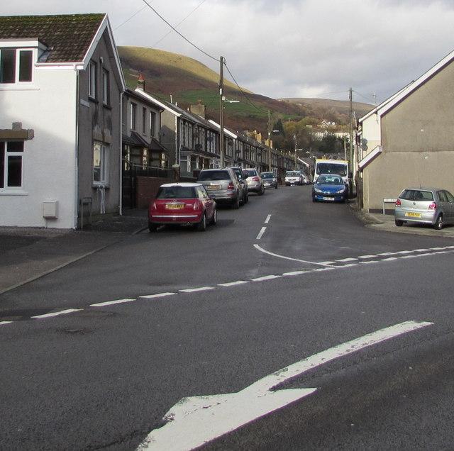Junction of St John Street and Bridge Street, Ogmore Vale