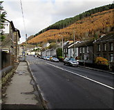 SS9389 : Bridge Street towards High Street, Ogmore Vale by Jaggery