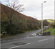 SS9389 : Junction of Bryn Road and Cemetery Road, Ogmore Vale by Jaggery