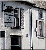 SO3014 : Coach & Horses name sign, Cross Street, Abergavenny by Jaggery
