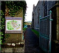 SO3014 : Entrance to the Abbot's Garden, Abergavenny by Jaggery