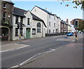 SO3014 : Monk Street pelican crossing, Abergavenny by Jaggery