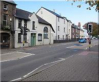 SO3014 : Monk Street pelican crossing, Abergavenny by Jaggery