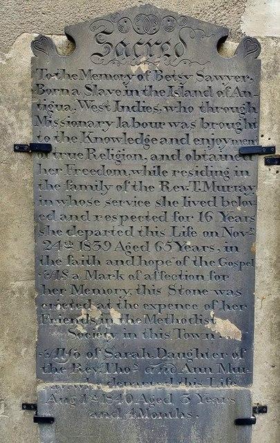 Betsy Sawyer Memorial Stone. Yeadon Methodist Church, Chapel Hill, Yeadon, Leeds