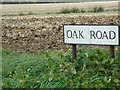 TL8826 : Oak Road sign by Adrian Cable
