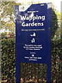 TQ3480 : Tower Hamlets' style of park sign, Wapping  Gardens by Robin Stott