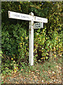 TL8925 : Signpost on Brook Road by Adrian Cable