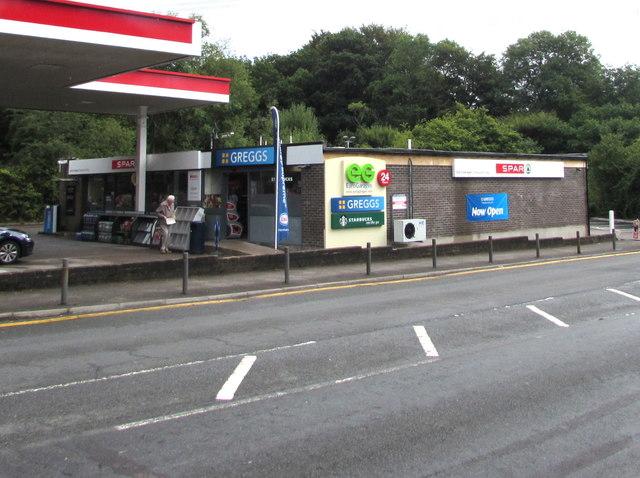 Greggs and Spar, Newport Road, Trethomas