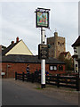 TL8925 : The Chequers Public House sign by Adrian Cable