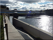 SE3231 : New Footbridge and Weir at Knostrop Fall by Lee Davidson