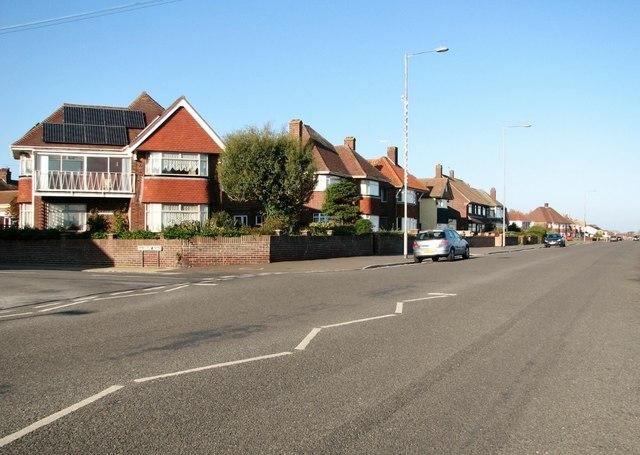View north along North Drive