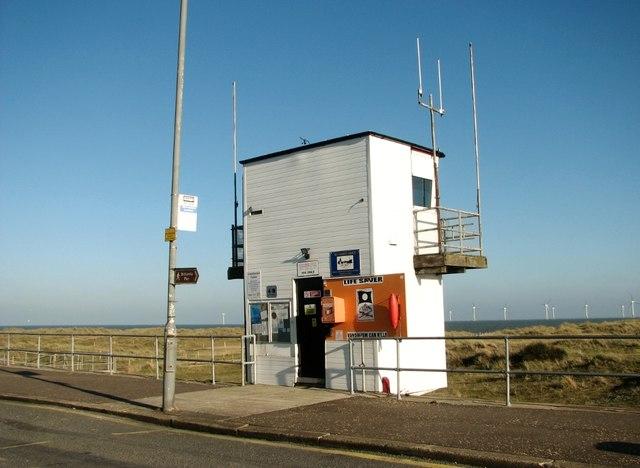 Coastguard lookout station at North Denes