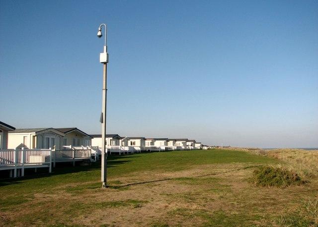 Static caravans at North Denes