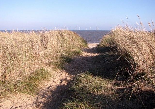 Path through the dunes at North Denes