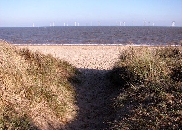 The beach at North Denes