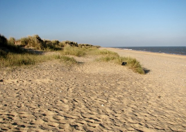Dunes and beach at North Denes