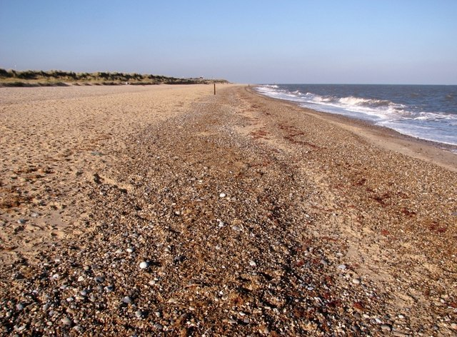 Shingle and sand at North Denes