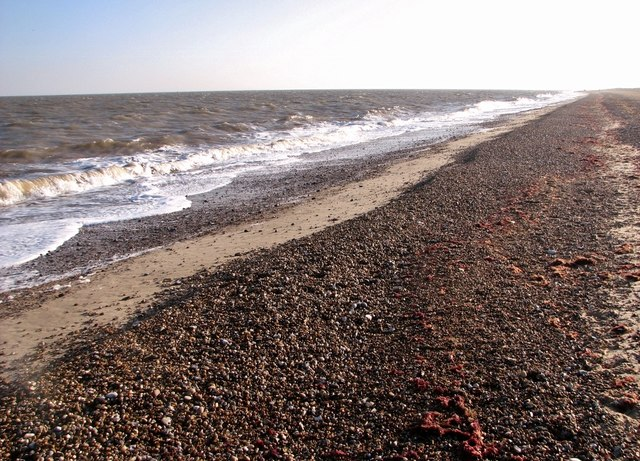 Outgoing tide on the beach at North Denes