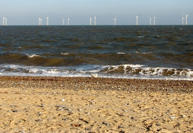 View to Scroby Sands windfarm