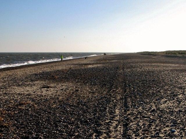 Beach fishing at North Denes