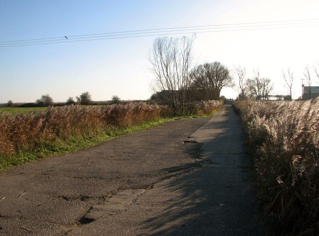 Access road to farm buildings