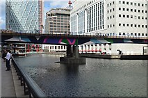 TQ3780 : DLR crosses West India Dock by N Chadwick