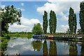 SK5913 : Moored boats on the River Soar near Rothley in Leicestershire by Roger  Kidd