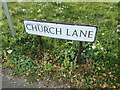 TL8923 : Church Lane sign by Adrian Cable