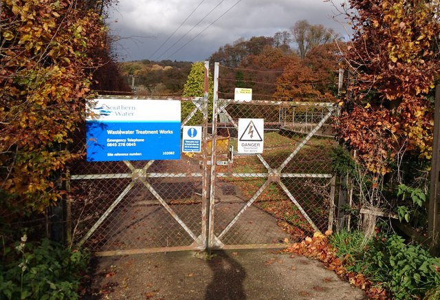 Entrance gate to the Sewage Works