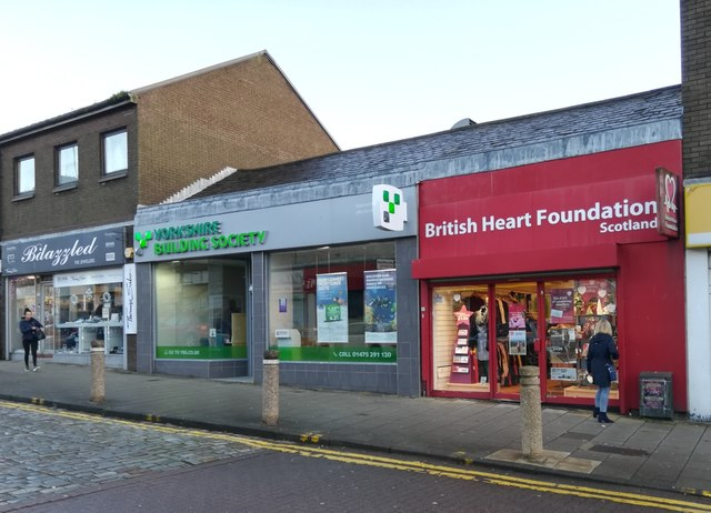 British Heart Foundation shop, Greenock