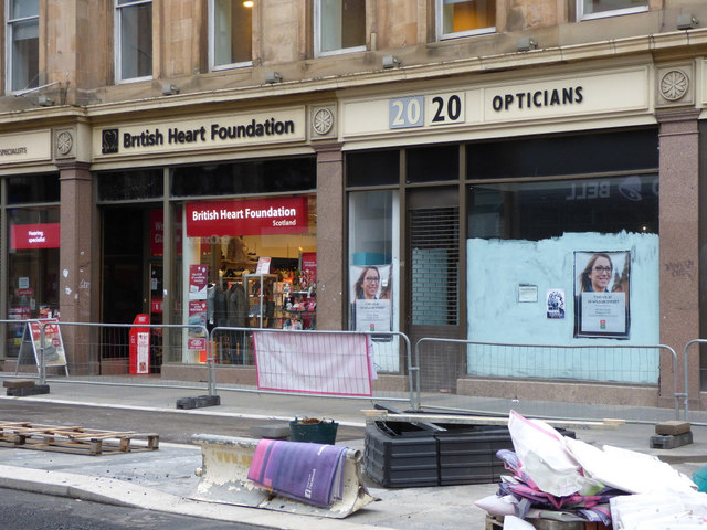 British Heart Foundation shop, Sauchiehall Street